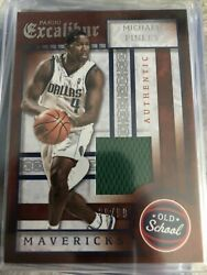 2015-16 Panini Excalibur Old School Swatches 13 Michael Finley Jersey /99
