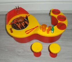 Rare Vintage Sindy Doll House Barbeque And Stools And Accessory Set