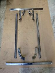 Complete 1957 1958 Ford Ranchero Stainless Bed Rail Tailgate Molding Set 57 58