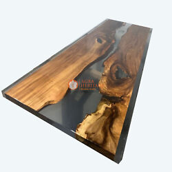 Acacia Deco Resin Epoxy Custom Personalize Dining Table Top Decorative Gifts Her
