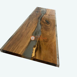 Epoxy Table Emerald Clear Epoxy River Table Epoxy Dining Table Acacia Table
