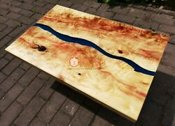 Resin Table Epoxy Resin Coffee Table Dining Table Top Acacia Wooden Art Decors