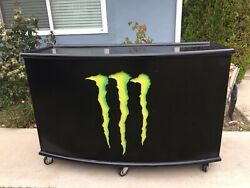 Monster Energy Drink Lighted Mobile Serving Bar Counter Man Cave All Metal