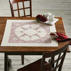 Craftways® Rose Gate Table Topper Stamped Embroidery Kit