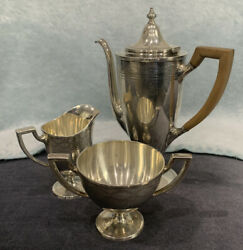 And Co. Sterling Silver Tea Set W/ Creamer And Sugar Bowl 17085 H 4895