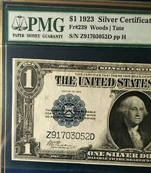 1923 1 Silver Certificate Us Large Note Pmg45 Choice Ext Fine, Rare  3279