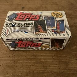 2003-2004 Topps Basketball Sealed 265 Card Complete Set Lebron Rc