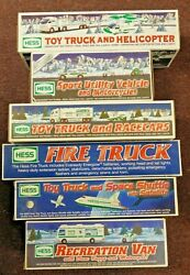 Hess Trucks Lot Of 6 New In Boxes 1998, 1999, 2000, 2003, 2004 And 2006