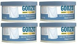 Air Freshener Tin - 4 Pack 2 Ounce - Clean Cotton - Small Area - Home Car And