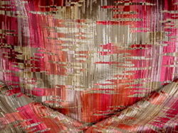 Brunschwig And Fils 8015159 Amauri Velvet Red Copper Ikat Upholstery Fabric