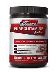 Bcaa - Pure Glutamine Powder 5000mg - Boost Exercise And Workout Energy 1b