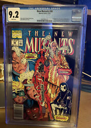 The New Mutants 98 1st Deadpool Newstand Cgc 9.2 White Pages