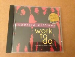 Vanessa Williams Work To Do Cd Single Rare Us Import 1992 Wing Records 863 541-2
