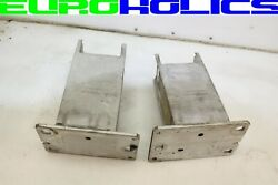Pair Oem Audi A4 B8 09-12 Front Bumper Bracket Crush Can Carrier Left Right