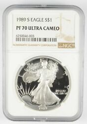 Pf70 Ucam 1989-s American Silver Eagle - Graded Ngc 3002