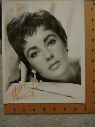 Elizabeth Taylor Signed In Person Inscribed Photo 8x10 B/w