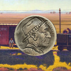 1925 Hand Carved Original Hobo Nickel quot;Uncle Charlie Rayquot; OOAK by SteveOrino $27.99