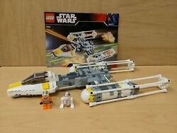 Lego Star Wars 7658 Y-wing Fighter W Instructions And Minifigs - 2 Bombs Missing