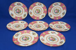 Royal Albert Lady Carlyle 8 Bread And Butter Plates, 6 1/4