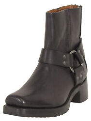 Frye Womens Heirloom Harness Back Zip Up Ankle Boots
