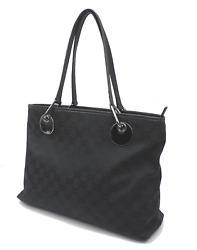 AUTH GUCCI GG Pattern Shoulder Tote Bag Canvas Leather R 1147 $218.00