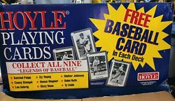 2pc Lot 1993 Hoyle Playing Cards Deck With Baseball Card Ty Cobb Sealed