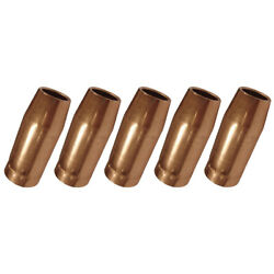 5-pk 5/8 198855 Nozzle For Miller Spoolmatic And Xr Series Welding Gun