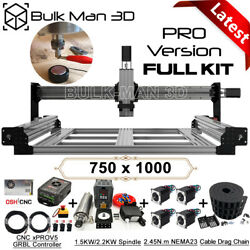 7510 Queenbee Pro Cnc Router Machine Full Kit 4 Axis Wood Router Engraver Mill