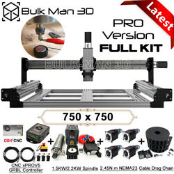7575 Queenbee Pro Cnc Router Machine Full Kit 4 Axis Wood Router Engraver Mill