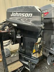 2000 Johnson 40hp Outboard Engine 2 Stroke 20 Shaft - Needs Carb Repair