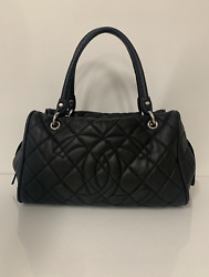 CHANEL Caviar Leather Quilted Tote in Black Shoulder Tote Handbag $1385.00