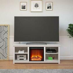 Edgewood Console With Fireplace For Tvs, Up To 60, Ivory Pine