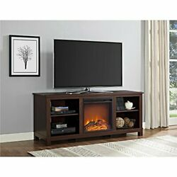Edgewood Tv Console With Fireplace For Tvs Up To 60, Espresso