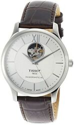 [tissot] Watch Tradition Automatic Open Heart Powermatic 80 Silver Dial Leather