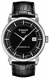 [tissot] Watch Luxury Automatic Powermatic 80 Black Dial Leather T0864071605100