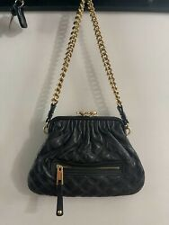 MARC JACOBS Little Stam Leather Chain Strap Quilted Crossbody Bag $125.00