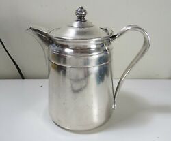 Heavy Sheraton Hotel Silver Soldered Reed And Barton Pitcher Marked 2858 64 Oz