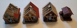 Life-like Ho Scale Houses Under Construction Built Up - Free Shipping