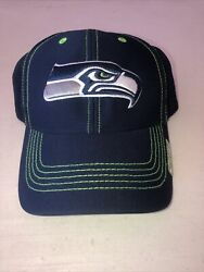 Nfl Seattle Seahawks '47 Navy Blue Hat Cap Curved Bill Adjustable Youth