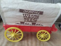 Vintage 1960's Wagon Train Toy Covered Wagon