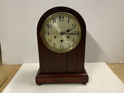 And Co Antique Arched Top Mantel Clock Westminster Chimes Running Playing