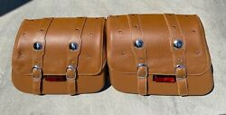 Genuine Leather Indian Scout Motorcycle Saddlebags