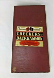 Vintage Transogram Boxed Checkers - Backgammon And Chess Games