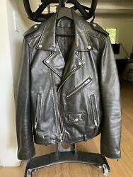 BLK DNM Leather Motorcycle Jacket Large $250.00