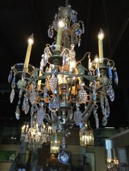 Antique Crystal Chandelier Lighting .wow Bronze And Crystal.