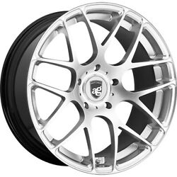 Staggered 19x10 / 19x11 Avant Garde Ruger Mesh Silver 5x130 +40/+40 Wheels Rims