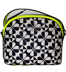 NWT $199 KATE SPADE Clover Geo Dome Messenger Crossbody Bag Leather Yellow $79.99