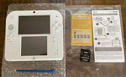 Nintendo 2ds Launch Edition 4gb White And Red Handheld System Refurbished Grade A