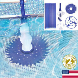 Automatic Swimming Pool Cleaner Vacuum Sweeper Suction 33ft Hose Complete Set Us