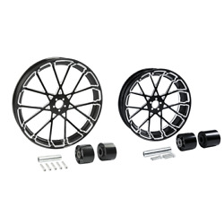 21 Front 18'' Rear Wheel Rim W/ Disc Hub Fit For Harley Touring Glide 2008-2021